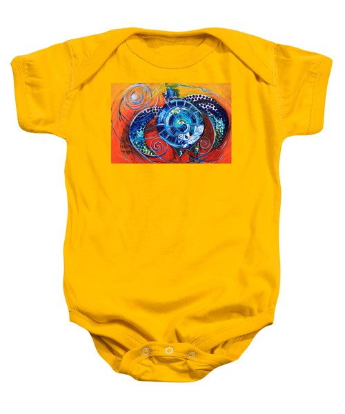 Slopical Tropical Sea Turtle Baby Onesie