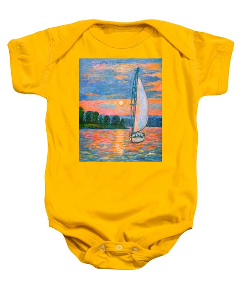 Baby Onesie featuring the painting Smith Mountain Lake by Kendall Kessler