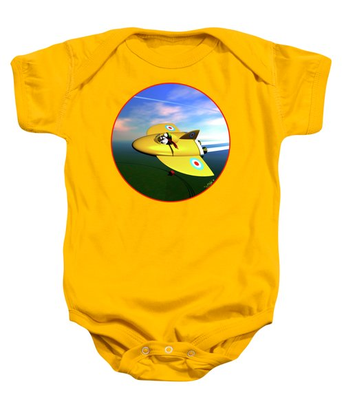 Snoopy The Flying Ace Baby Onesie