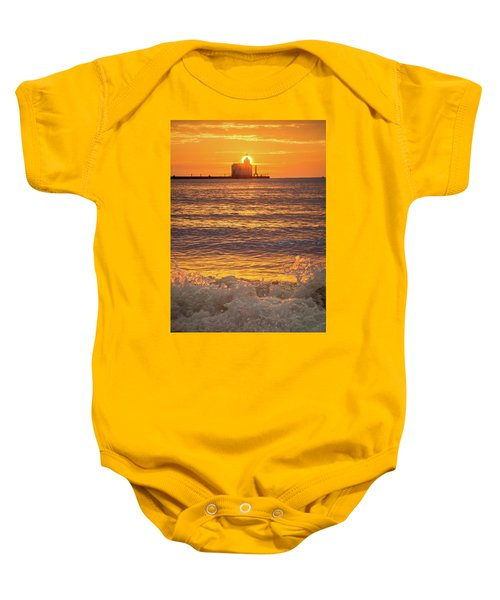 Baby Onesie featuring the photograph Splash Of Light by Bill Pevlor