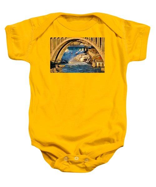 Spokane Monroe Street Bridge Baby Onesie