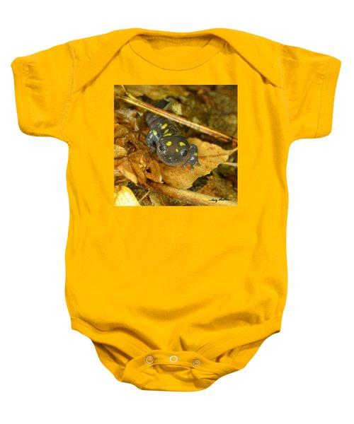 Spotted Salamander Baby Onesie