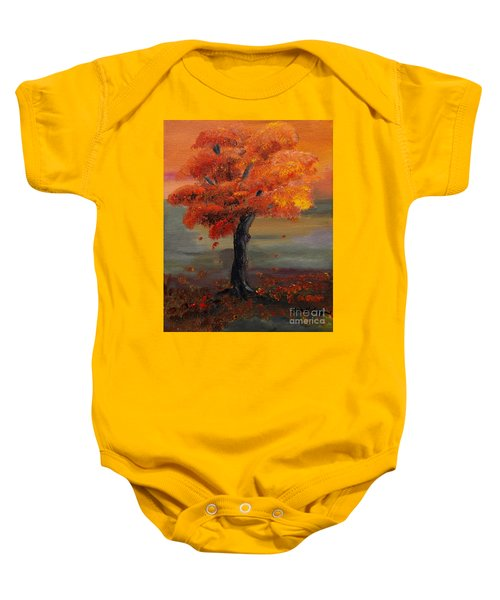 Stand Alone In Color - Autumn - Tree Baby Onesie