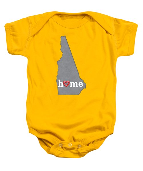 State Map Outline New Hampshire With Heart In Home Baby Onesie