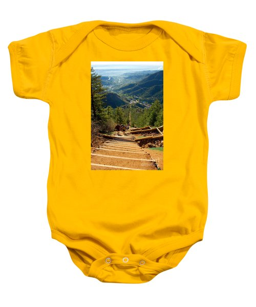 Steep Manitou Incline And Barr Trail Baby Onesie