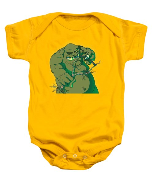 Storybook Ogre Shooting Heads Baby Onesie by Jorgo Photography - Wall Art Gallery