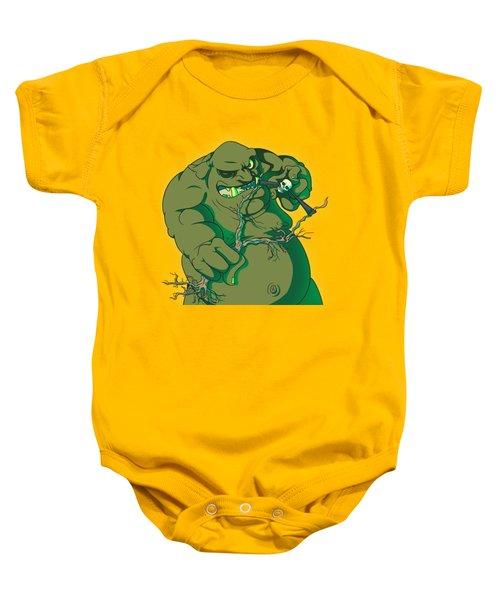 Storybook Ogre Shooting Heads Baby Onesie