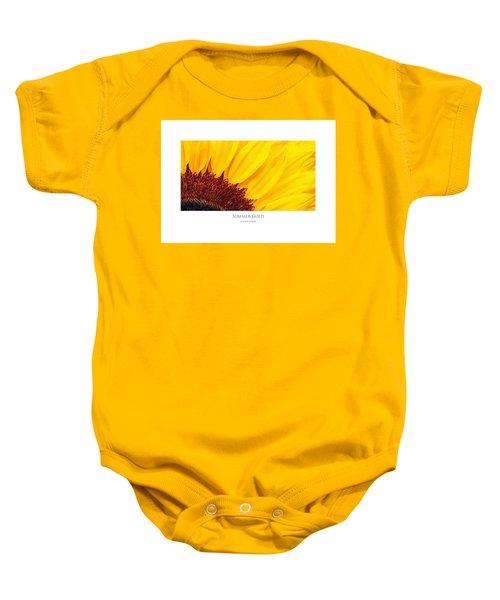 Summer Gold Baby Onesie