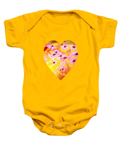 Summer Meadows-floral Painting By V.kelly Baby Onesie