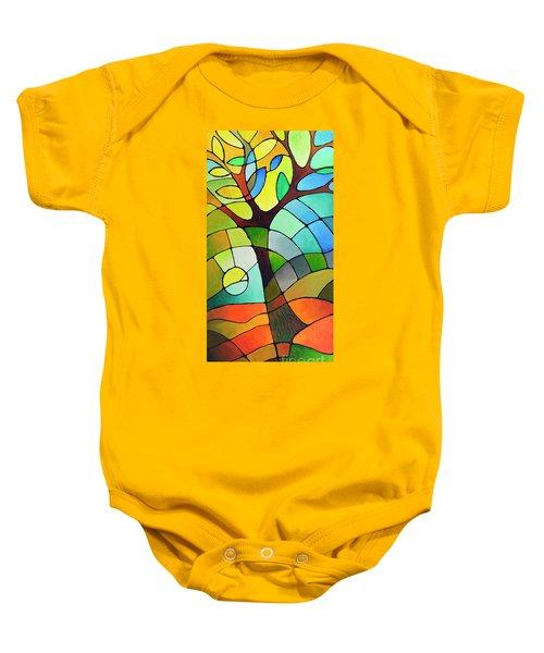 Summer Tree Baby Onesie