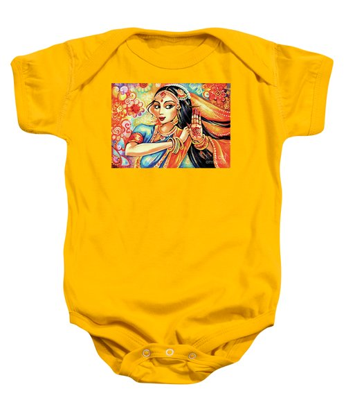 Baby Onesie featuring the painting Sun Ray Dance by Eva Campbell