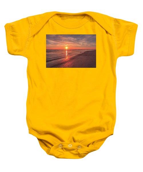 Sunburst At Sunset Baby Onesie