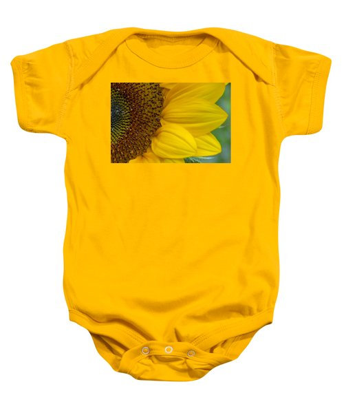 Sunflower Closeup Baby Onesie