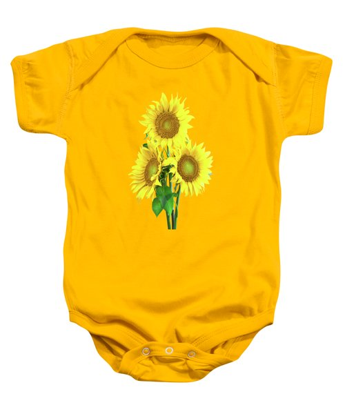 Baby Onesie featuring the painting Sunflower Dreaming by David Dehner
