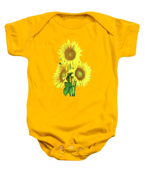 Sunflower Dreaming Baby Onesie
