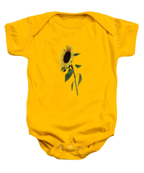 Baby Onesie featuring the painting Sunflower Glow by David Dehner