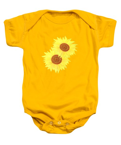 Sunflower Heart Baby Onesie