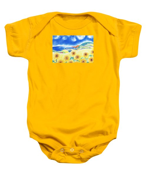 Sunflower Hills Baby Onesie