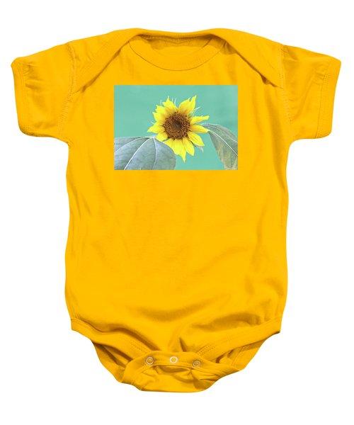 Sunflower In The Summer Time Baby Onesie