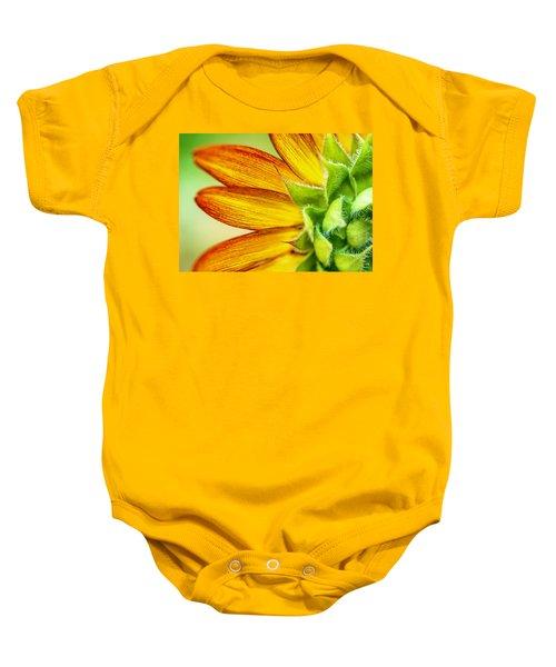 Sunflower Macro 1 Baby Onesie