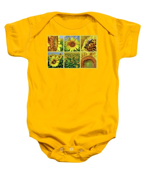 Sunflower Story - Collage Baby Onesie