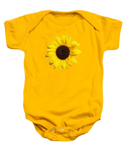 Sunflower Sunburst Baby Onesie