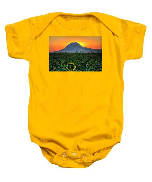 Sunflower Sunrise Baby Onesie