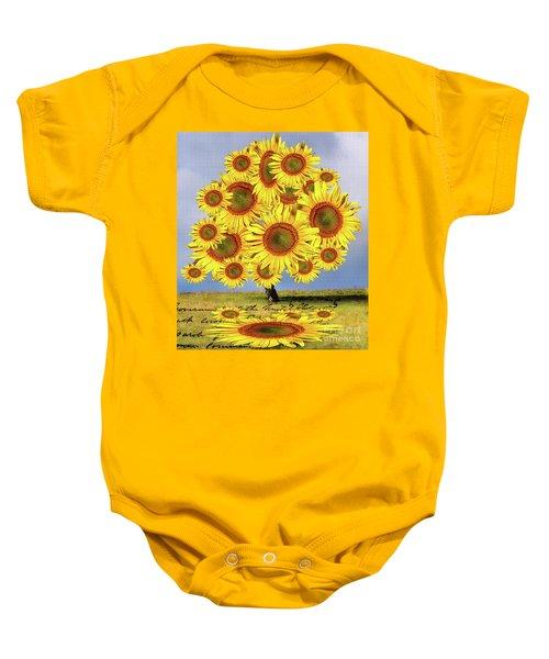 Sunflower Tree Baby Onesie