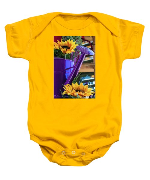 Complementary Sunflowers Baby Onesie