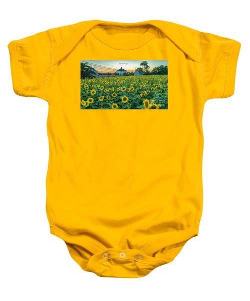 Sunflowers For Wishes  Baby Onesie