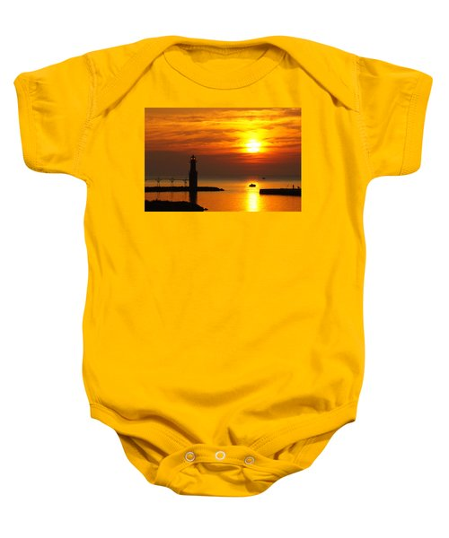 Sunrise Brushstrokes Baby Onesie by Bill Pevlor