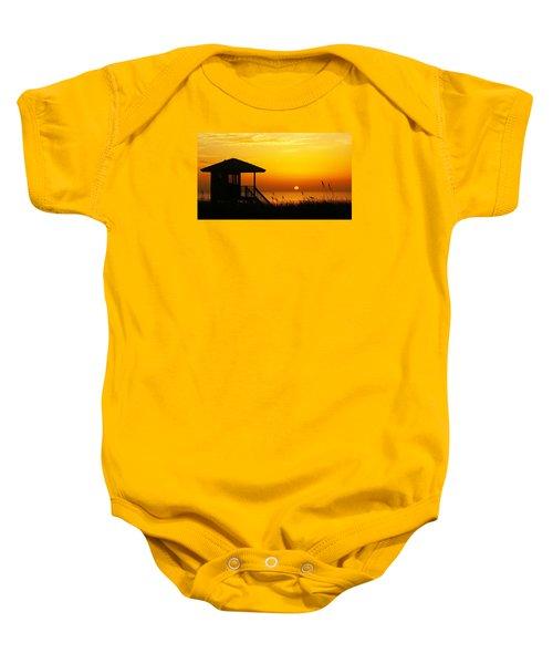 Sunrise Lifeguard Station Baby Onesie