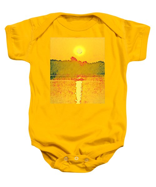 Sunrise On Town Lake Baby Onesie