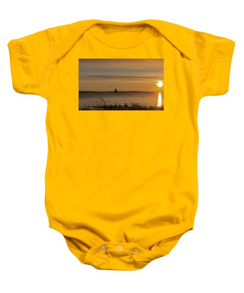 Sunrise Over New Bedford Baby Onesie