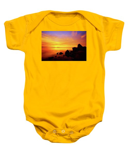 Sunset And Fire Baby Onesie