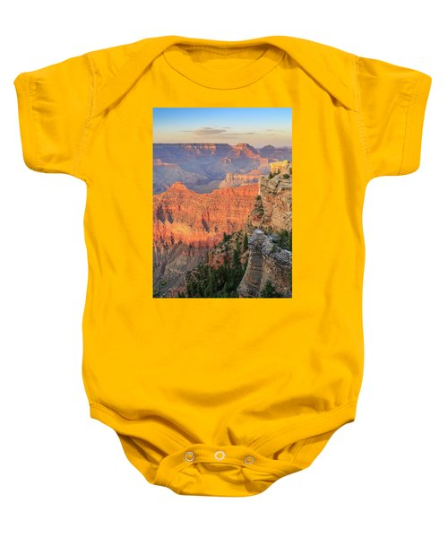 Baby Onesie featuring the photograph Sunset At Mather Point by David Chandler