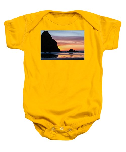 Sunset At Whalehead Beach Baby Onesie