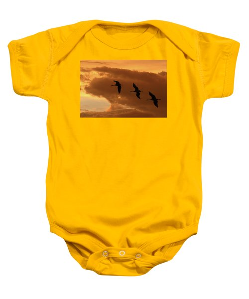 Sunset Flight Baby Onesie