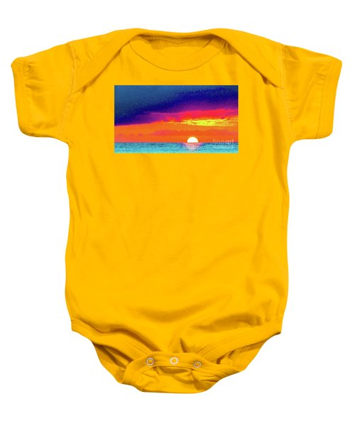 Sunset In Abstract  Baby Onesie