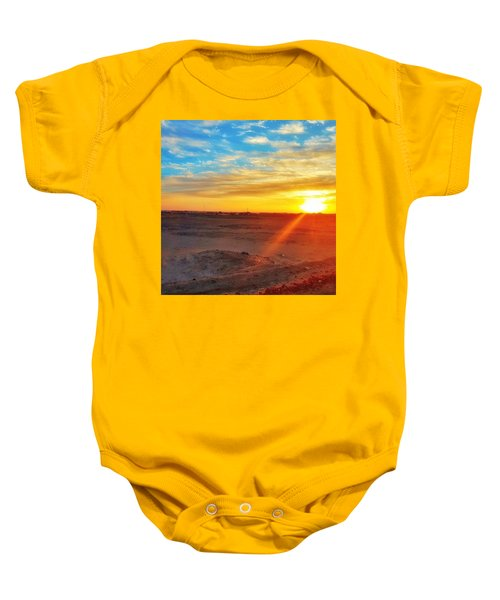Sunset In Egypt Baby Onesie