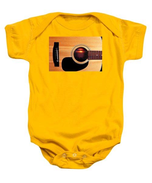 Sunset In Guitar Baby Onesie