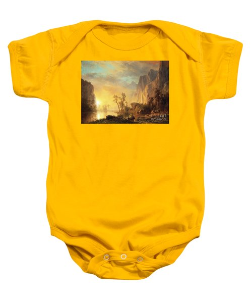 Sunset In The Rockies Baby Onesie