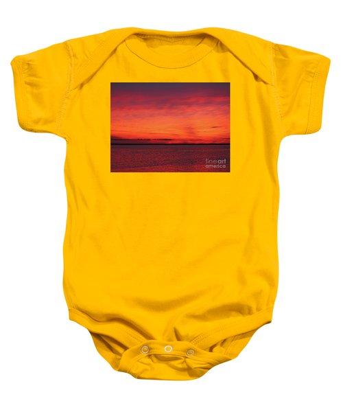 Sunset On Jersey Shore Baby Onesie