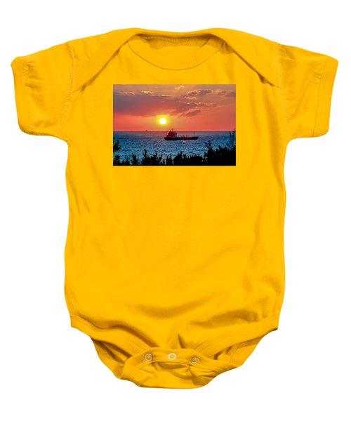 Sunset On The Horizon Baby Onesie