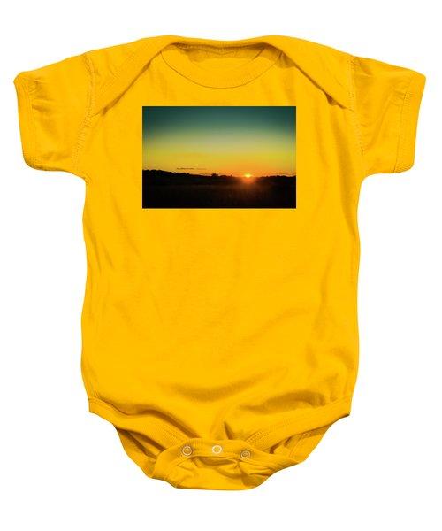 Sunset Over The Prairie Baby Onesie