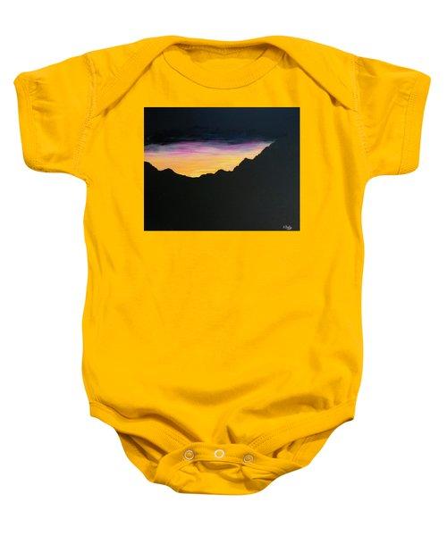 Sunset Silhouette Baby Onesie