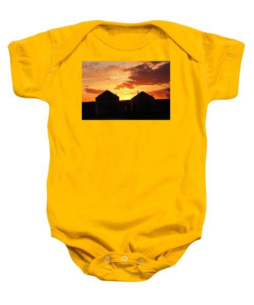 Sunset Silos Baby Onesie