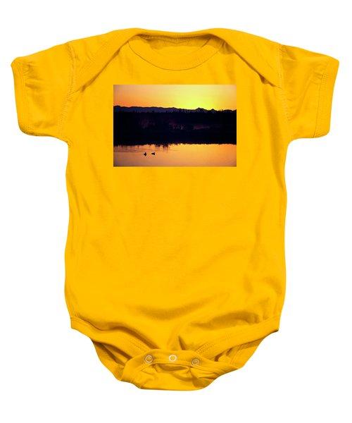 Sunset Swim Baby Onesie