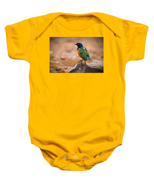 Superb Starling Baby Onesie by Adam Romanowicz