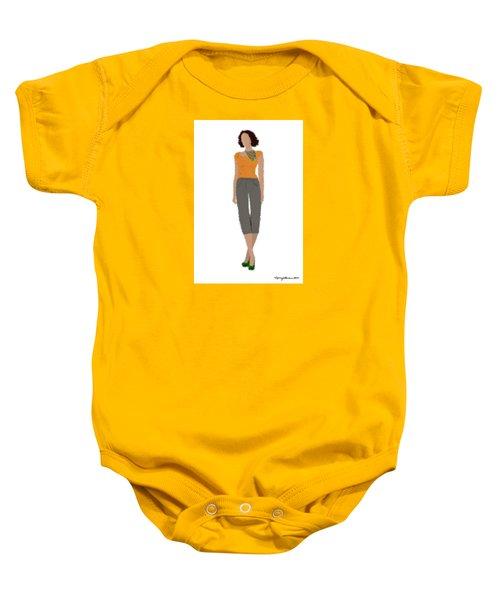 Baby Onesie featuring the digital art Susan by Nancy Levan
